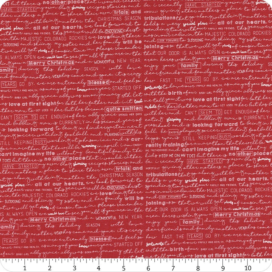 The Christmas card cotton fabric by Sweetwater for Moda fabrics 5772 11